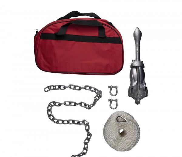 Nordmann® Klappanker Set 2,5 kg inkl. Seil und Kette