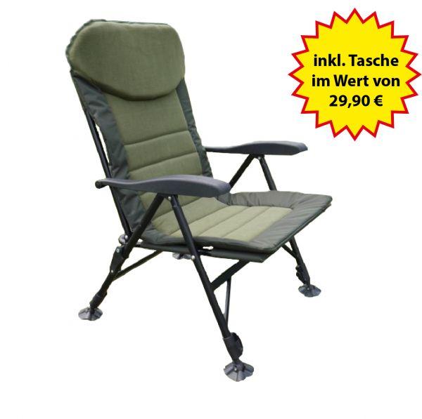 Nordmann® Karpfenstuhl KS1 mit verstellbarer Rückenlehne