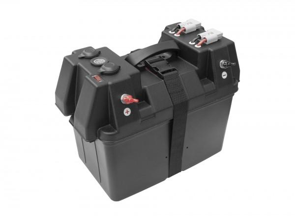 Nordmann® Batteriebox mit LED-Anzeige für 100Ah AGM Batterie