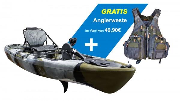 Nordmann® Angelkajak CF10 mit Pedalantrieb Sit on Top