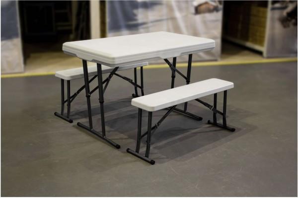 Nordmann® Campingtisch mit 2 Sitzbänken, klappbar