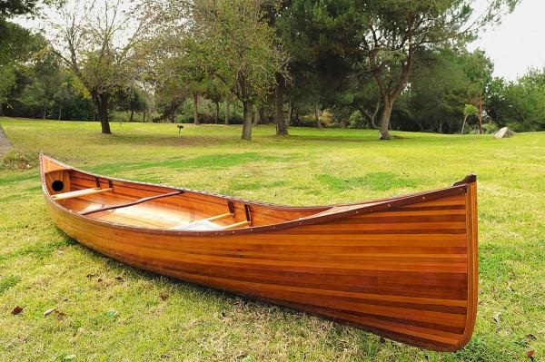 Red-Oak Echtholz Zweier Kanu: Typ Canadian 18