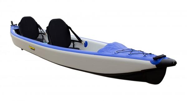Nordmann® I-Kajak Racer 470 Drop Stitch Luftkajak 2-Sitzer inkl. Sitze, Paddel und Zubehör