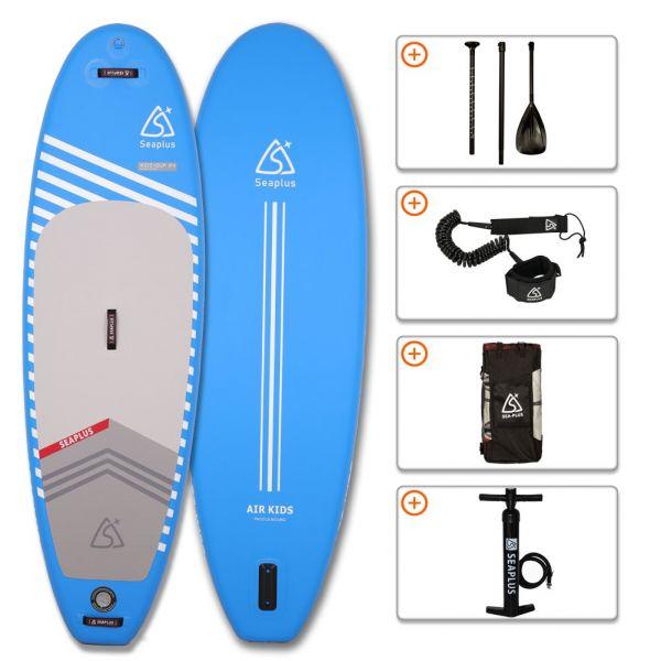 SEA PLUS Aufblasbares SUP Board KIDS 9' inkl. Paddel, Pumpe und weiterem Zubehör