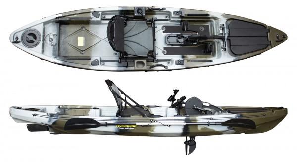 Nordmann® Angelkajak mit Pedalantrieb Sit on Top | N-365-Q