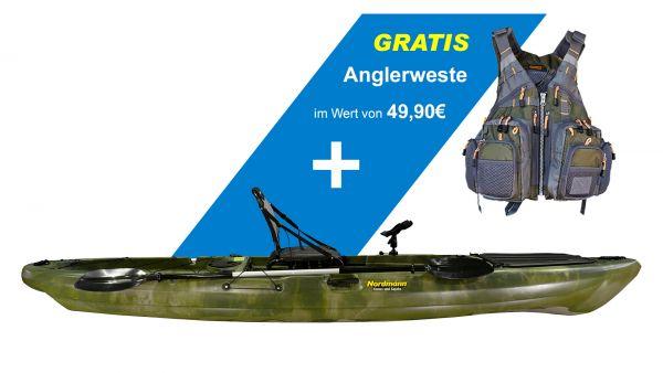 Nordmann® CF13-21 Angelkajak Sit on Top | Farbe: camo-military